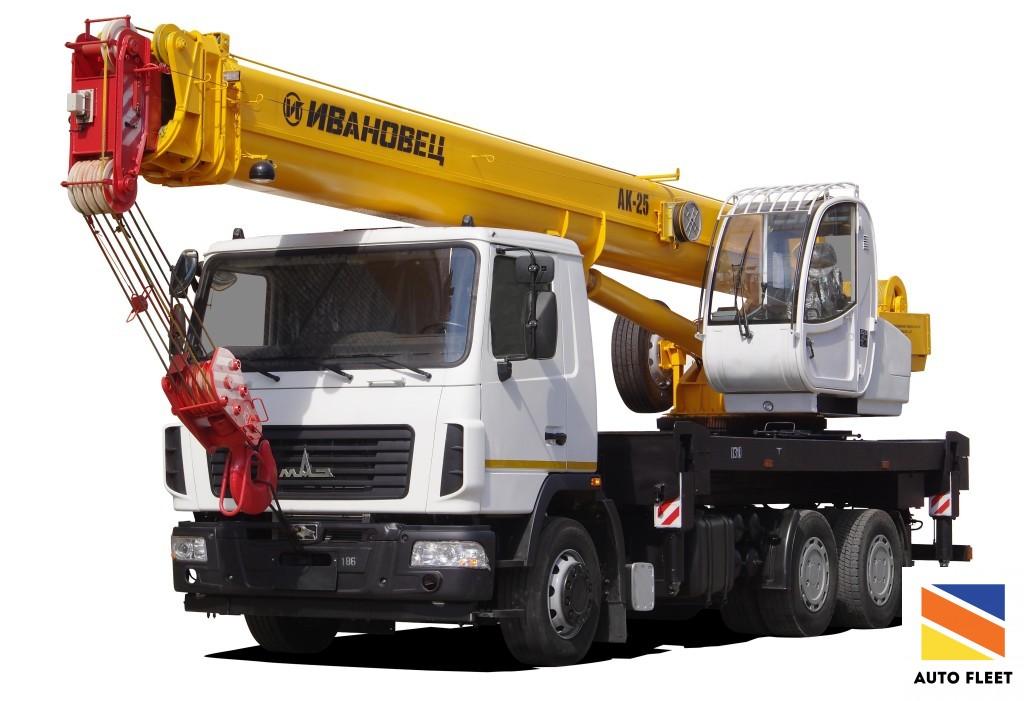 Truck crane Ivanovec 25t MAZ