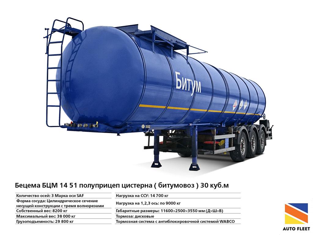 Нефтевоз Бецема БЦМ 14 51 Битумные цистерны