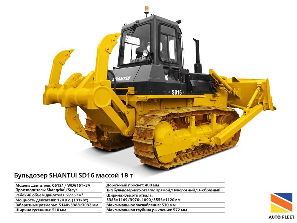 Бульдозеры Shantui SD-16
