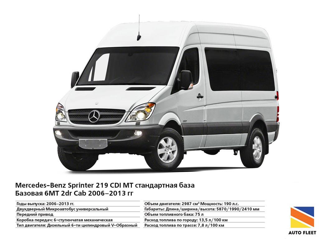 Mercedes Benz Sprinter 219 CDI - микроавтобус (минивэн)