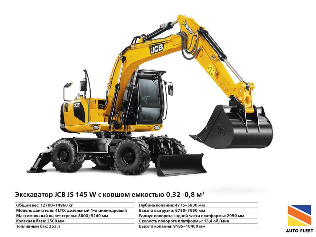 Экскаватор JCB JS145-W Купить +7 (495) 773-3494 www.auto-fleet.ru