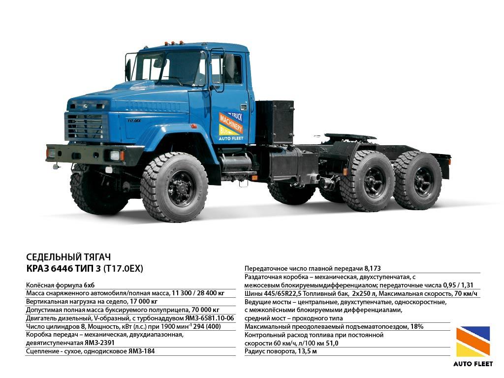 Седельный тягач КрАЗ 6446 TIPE-3 Бурлак