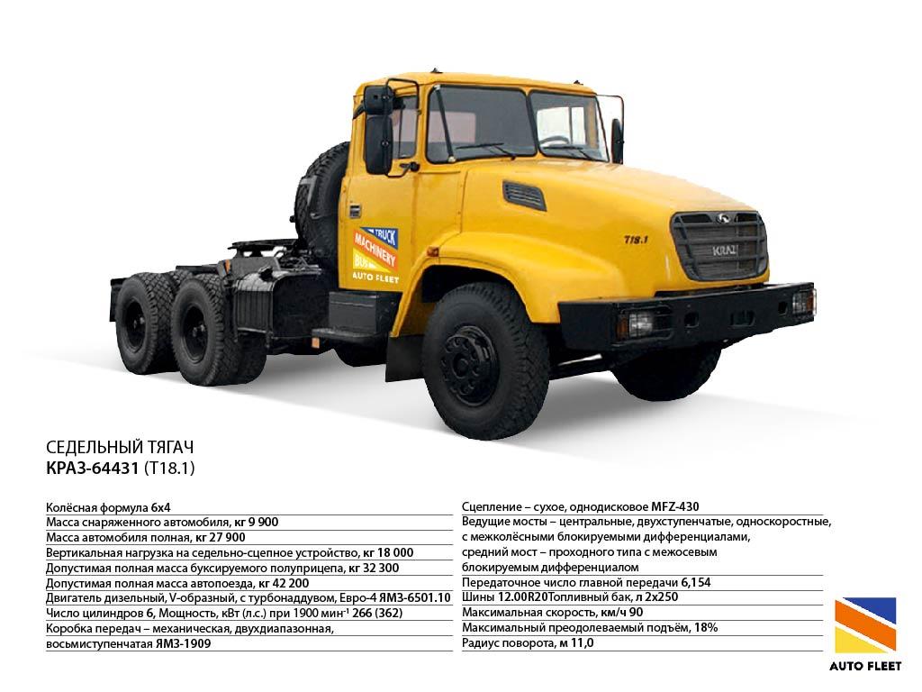 Седельный тягач КрАЗ-64431 (T18.1) truck