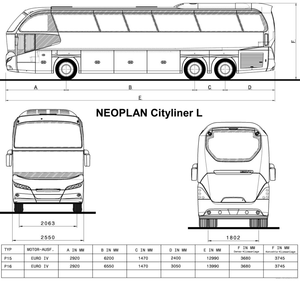 Neoplan Cityliner L автобус предназначен для работы в городе и на не больших растояниях.