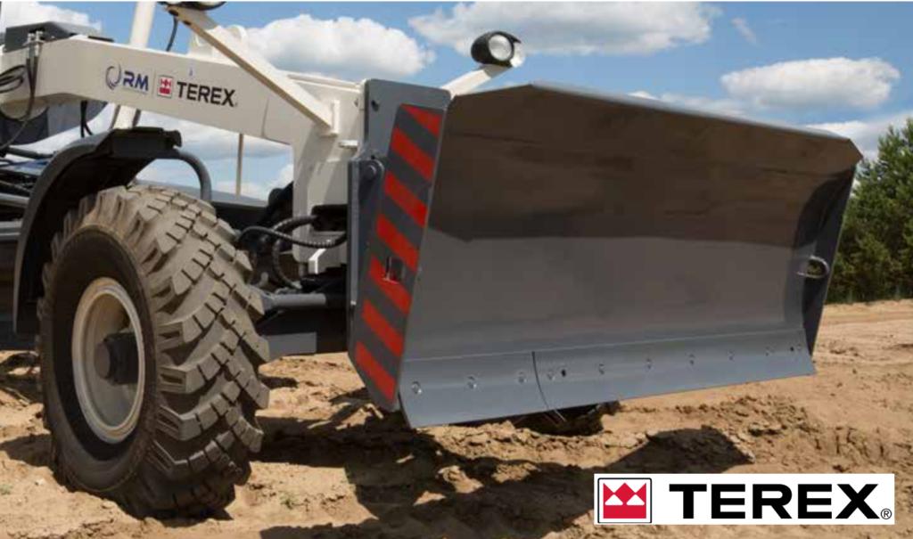 Неповоротный бульдозерный отвал автогрейдер TEREX TG series