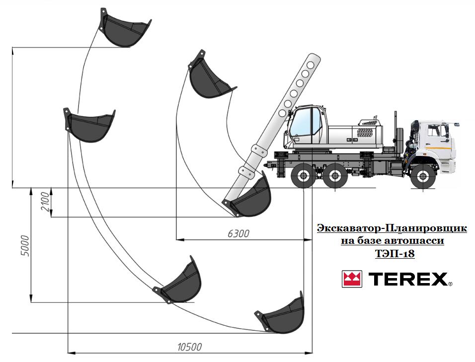 """Экскаватор-планировщик TEREX ТЭП-18 """"Авто-Флит"""" - Грузовики, спецтехника, автобусы http://fleet-auto.ru"""