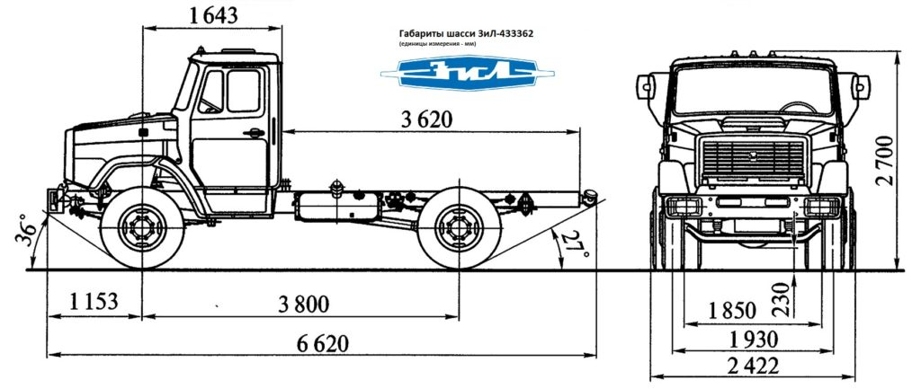 Грузовик ЗиЛ - 433362 шассси 4х2