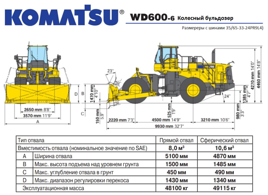 Komatsu WD600-6 Wheel DOZER
