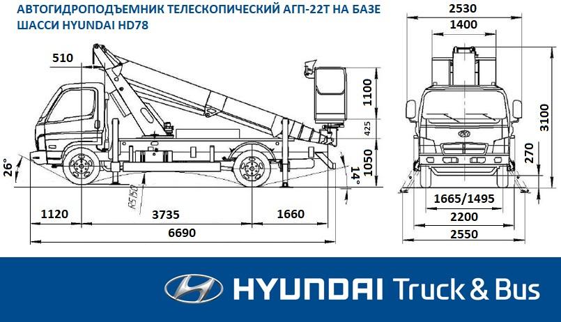 Автовышка АГП-22Т